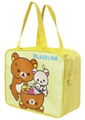 Rilakkuma 拉拉熊 方型手提便當籃 便當袋 黃 RKB11111B