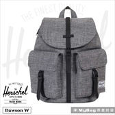 Herschel 後背包 Dawson X-Small 灰色 雙口袋休閒後背包 Dawson W-919 MyBag得意時袋