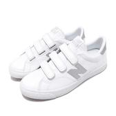 New Balance 休閒鞋 NB 210 N字鞋 白 銀 小白鞋 魔鬼氈 復古帆布鞋 運動鞋 女鞋【PUMP306】 AM210VMSD