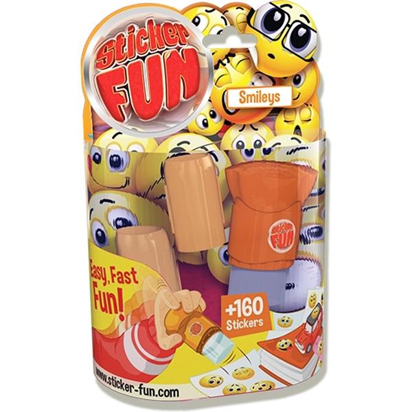 【Sticker Fun 棒棒貼】按壓貼紙機-黃色笑臉 GO35500
