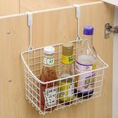 廚房收納架可掛式鐵藝大容量多功能廚房櫥柜門背掛籃衛生間柜子置物架 KB7400 【歐爸生活館】