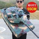 遙控車 超大號遙控坦克充電動履帶式金屬坦克模型可發射兒童男孩玩具汽車 NMS小明同學