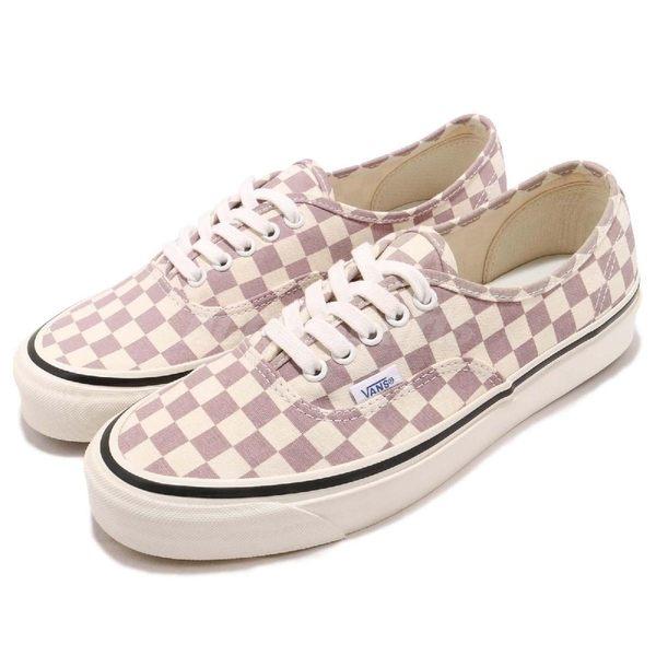 【六折特賣】Vans Authentic 44 DX 基本款 粉紅 白 經典格紋 滑板鞋 休閒鞋 男鞋 女鞋【PUMP306】 72010168