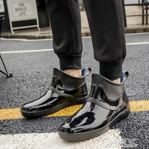 雨鞋男時尚潮流時尚四季防滑低幫韓版防水鞋成人雨靴男士短筒套鞋 聖誕節免運