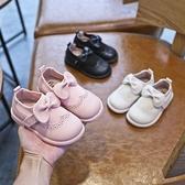 女童皮鞋2020春秋新款洋氣女孩公主單鞋兒童黑色豆豆鞋軟底寶寶鞋 童趣潮品