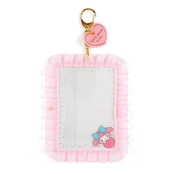 小禮堂 美樂蒂 蕾絲邊框相框鑰匙圈 透明相框 相框吊飾 相片架 (粉 演唱會粉絲收納)