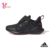 adidas童鞋 男童運動鞋 FORTARUN AC 輕量跑步鞋 慢跑鞋 透氣 魔鬼氈  S9320#黑紅◆OSOME奧森鞋業