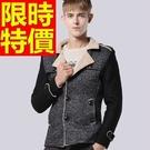 毛呢外套大氣經典-大方優質修身短版男大衣2色61x43【巴黎精品】