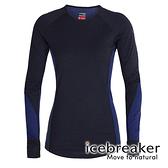 【icebreaker】ZONE 女 網眼保暖圓領長袖上衣 BF260『海軍藍』 柔軟 羊毛 吸濕 排汗 抑味 控溫 104477