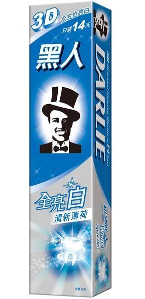 黑人牙膏-黑人全亮白牙膏-清新薄荷 140g   *維康