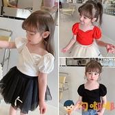 兒童短袖T恤女童裝夏裝公主韓版寶寶夏季衣服上衣【淘嘟嘟】