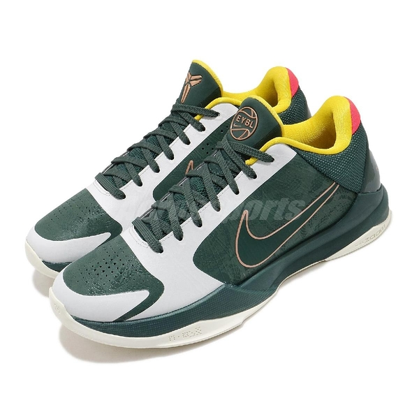 Nike 籃球鞋 Kobe 5 V Protro EYBL 綠 白 男鞋 美杜莎 曼巴 老大 ZK5 運動鞋 【ACS】 CD4991-300
