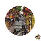 【收藏天地】台灣紀念品*神奇的陶瓷吸水杯墊-九份老街風情∕馬克杯 送禮 文創 風景 觀光  禮品