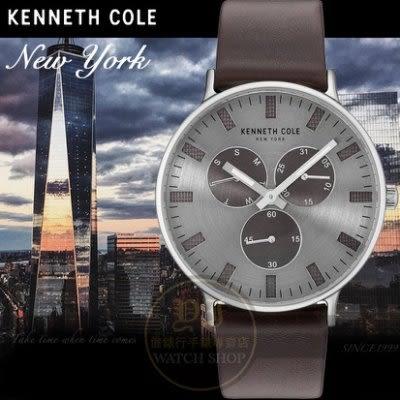 Kenneth Cole國際品牌極簡薄型紳士日曆腕錶KC10031464公司貨/設計師/禮物/情人節