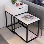 邊櫃 邊幾現代簡約沙發邊櫃邊桌客廳角幾沙發桌可移動桌子個性茶幾簡約【八二折鉅惠】