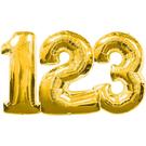 34吋金色數字鋁箔氣球(不含氣)-0到9...