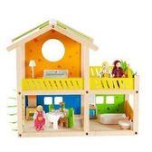 德國【Hape愛傑卡】娃娃屋系列 我的快樂小屋(帶傢俱)