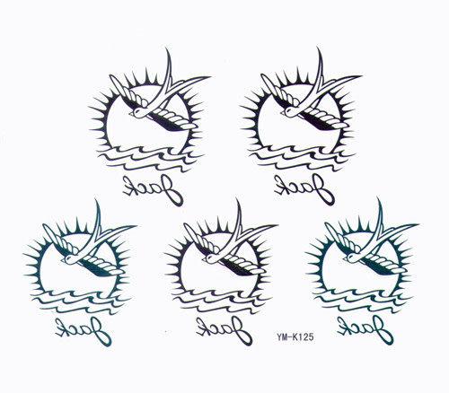 薇嘉雅  燕子 紋身貼紙 k-125