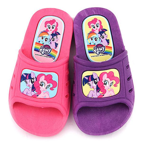 童鞋城堡-新彩虹小馬 中大童 一體成型室內外拖鞋MP0110-粉/紫 (共二色)