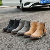 秋冬季短靴 平底馬丁靴英倫短筒短靴《小師妹》sm799