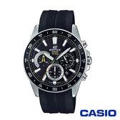 CASIO卡西歐 帥氣逼人三眼樹脂男腕錶-黑x43mm EFV-570P-1A