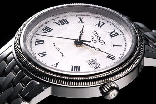 Tissot Bridgeport 古典機械腕錶T0454071103300銀白