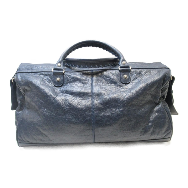 BALENCIAGA 巴黎世家 藍色羊皮手提斜背兩用包 Squash Boston Bag 340685【BRAND OFF】