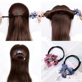 盤髮器 丸子頭花朵盤髮器韓國頭飾造型器懶人神器百變蓬鬆花苞頭扎頭髮飾 中秋降價