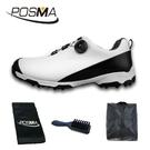 高爾夫球鞋 男士防水鞋子 pgm 旋轉鞋扣運動鞋 GSH090WBLK