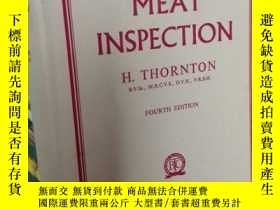 二手書博民逛書店TEXTBOOK罕見OF MEAT INSPECTION 第四版