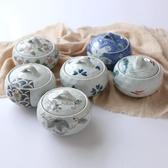 日式手繪陶瓷蒸碗蓋湯碗湯盅