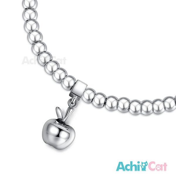 AchiCat 圓珠白鋼女手鍊 bead豆豆手鏈珠寶白鋼 點滴情懷 活力蘋果 送刻字 H6033