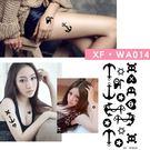 紋身貼紙  性感小海錨  WA014   日韓系水轉印紋身貼紙  想購了超級小物