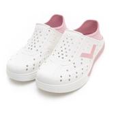 PONY 中性款白底粉LOGO水鞋/洞洞鞋-NO.92U1SA02PK