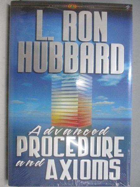 【書寶二手書T6/原文書_ZGJ】Advanced Procedures and Axioms_L. Ron Hubba