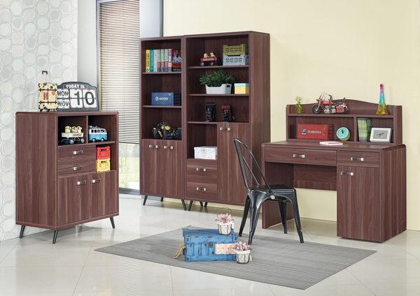 【森可家居】奧斯汀胡桃色2尺書櫃 7JX290-2 限量出清