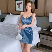 性感夜店洋裝 夜店女裝吊帶低胸修身時尚包臀短裙露胸性感連身裙T550A紅粉佳人