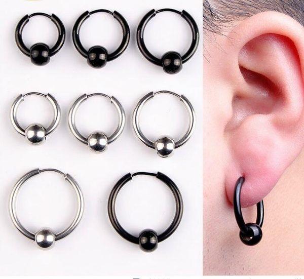 男士防過敏簡約個性耳扣飾品LVV1239【KIKIKOKO】