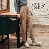 Queen Shop【04101259】質感素面雪紡鬆緊老爺褲 兩色售 S/M/L*現+預*