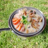 韓式木碳燒烤爐子圓形無煙燒烤架家用木炭戶外商用電熱3人2烤肉鍋 桃園百貨