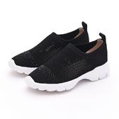 MICHELLE PARK 華麗步調 半版水鑽彈性網面鏤空透氣休閒鞋-黑色