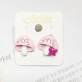 粉紅小香菇抗敏鋼針耳針-C16001-pipima