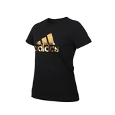ADIDAS 女短袖T恤(純棉 休閒 慢跑 路跑 亞規 ATHLETICS 愛迪達 免運 ≡排汗專家≡