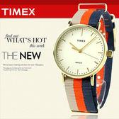 TIMEX 美國第一品牌 Waterbury INDIGLO 夜光指針錶 天美時 帆布 學院風 文青 TW2P91600