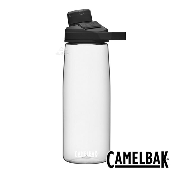 『VENUM旗艦店』【CAMELBAK 】CHUTE MAG 戶外運動水瓶 750ml-晶透白 RENEW 2470101075