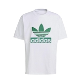 adidas 短袖T恤 Originals ADICOLOR Big Trfl Tee 白 綠 男款 短T 運動休閒 【ACS】 H09346