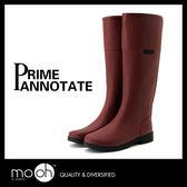 雨鞋 雨靴 長筒雨鞋 大尺碼雨鞋  歐美馬靴款素面高筒雨靴 mo.oh (歐美鞋款)