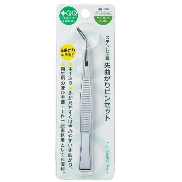 【日本製】【GREEN BELL】日本製 不鏽鋼 鑷子 小夾子 QQ-506(一組:48個) SD-21698-48 -
