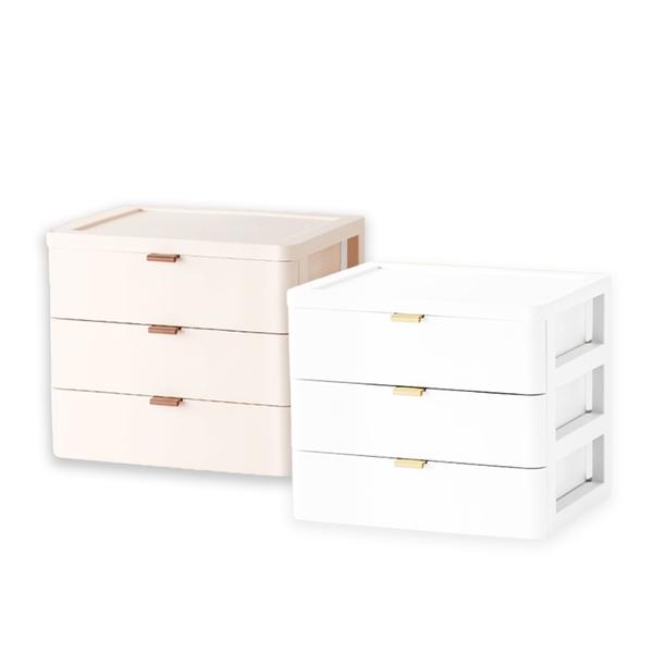 現貨 快速出貨【小麥購物】桌面三層抽屜收納盒 收納 抽屜式桌上收納 三層收納【C153】