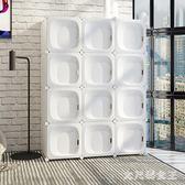 簡易衣櫃簡約現代經濟型組裝塑料儲物小臥室布藝衣櫥租房收納櫃子TA5195【大尺碼女王】